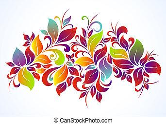 virágos, fényes, háttér