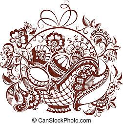 virágos, húsvét, hennabokor, tervezés