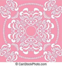 virágos, rózsaszínű, elvont, seamless, backg