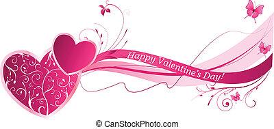 virágos, valentine's, háttér, lenget