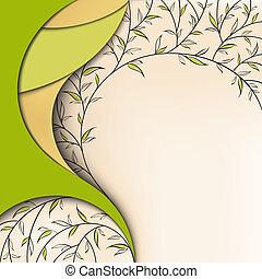 virágos, zöld háttér, természet