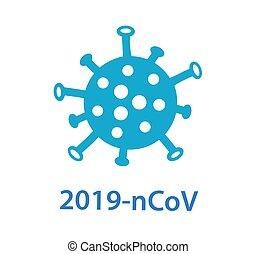 virus., 2019-ncov., virion, vektor, coronavirus, korona, ábra