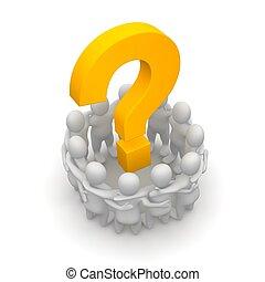 viszonoz, csoport, illustration., emberek, mark., kérdez, 3