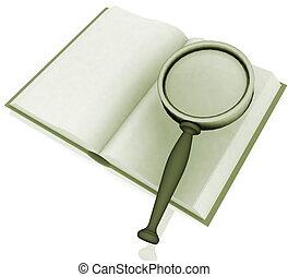 viszonoz, kutató, ábra, book., nyílik, 3