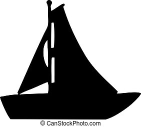 vitorlás hajó, árnykép