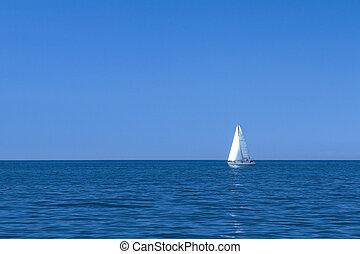 vitorlás hajó, földközi-tenger