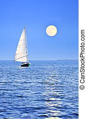 vitorlás hajó, holdtölte