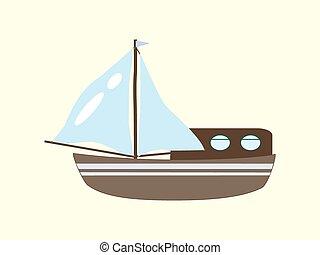 vitorlás hajó, jacht, elgáncsol, cirkálás