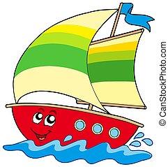 vitorlás hajó, karikatúra