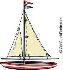 vitorlás hajó, művészet, csónakázik, csíptet, vitorlázás