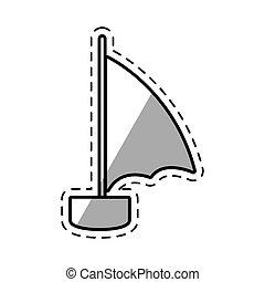 vitorlás hajó, pihenés, árnyék, utazás