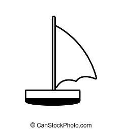 vitorlás hajó, pihenés, egyenes, utazás