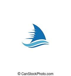vitorlázás, jel, csónakázik