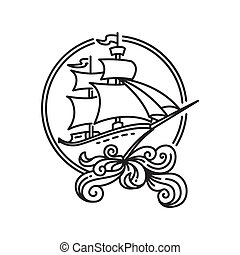 vitorlázás, kalóz, hajó