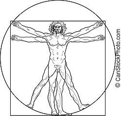 vitruvian, (outline, version), ember