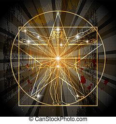 vitruvian, pentagram, ember