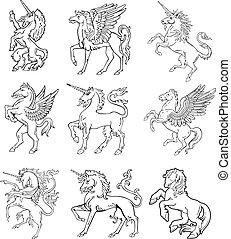 vol, ix, címertani, szörnyek