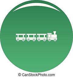 wagons, vektor, zöld, ikon