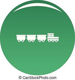 wagons, vektor, zöld, rakomány, ikon