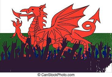 walesi, lobogó, kihallgatás