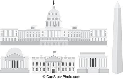 washington, épületek, emlékiratok, kongresszus székháza washingtonban, egyenáram
