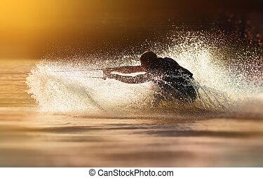 waterskier, waterskiing