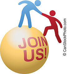 website, emberek, csatlakozik, segítség, társadalmi