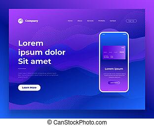 website, háló, development., mozgatható, ábra, vektor, tervezés, oldal