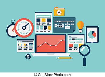 website, seo, analytics, ikonok