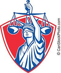 weighing lekapar, igazságosság, szabadság, retro, szobor, emelés