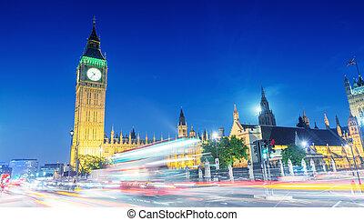 westminster, város, london, night., állati tüdő