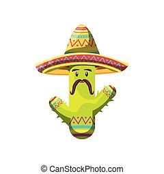 white háttér, csinos, kalap, kaktusz, mexikói