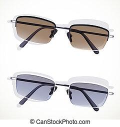 white háttér, elszigetelt, szemüveg