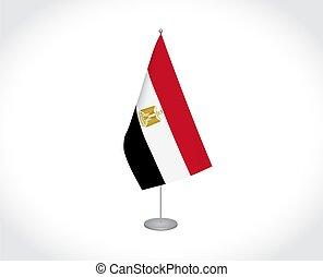 white háttér, lobogó, egyiptom