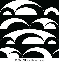 white körbejár, fekete, seamless, háttér
