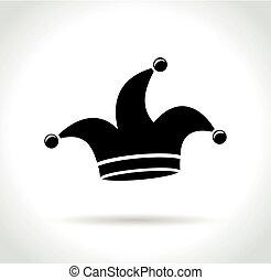 white kalap, háttér, ikon