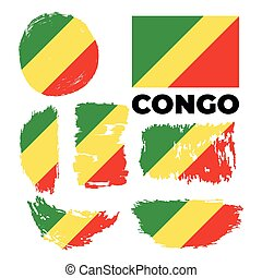 white lobogó, ábra, kongó, háttér, vektor
