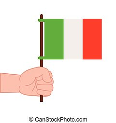 white lobogó, mexikó, kéz, háttér