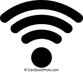 wifi, ikon, lakás, mód