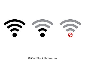 wifi, vektor, white háttér, elszigetelt, ikon