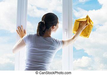 windows, mosás