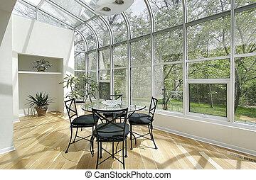 windows, nap, plafon, szoba