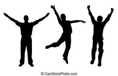 winners, férfiak, boldog