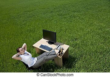 woman ellankad, hivatal, mező, zöld asztal