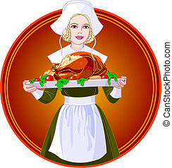woman hatalom, pulyka, tányér, pörkölt