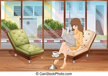 woman olvas