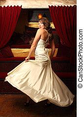 woman táncol, gyönyörű