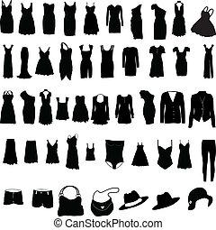 womens, öltözet, különféle, silho