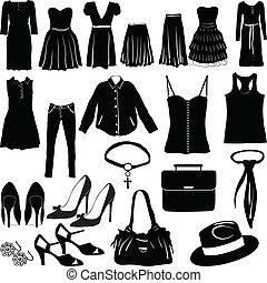 womens, öltözet, különféle