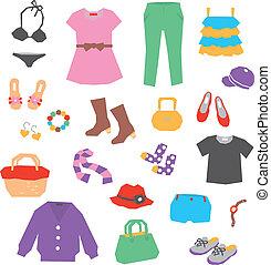 women's ruházat, segédszervek